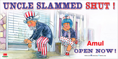 US Govt shut down! UNCLE SLAMMED SHUT!