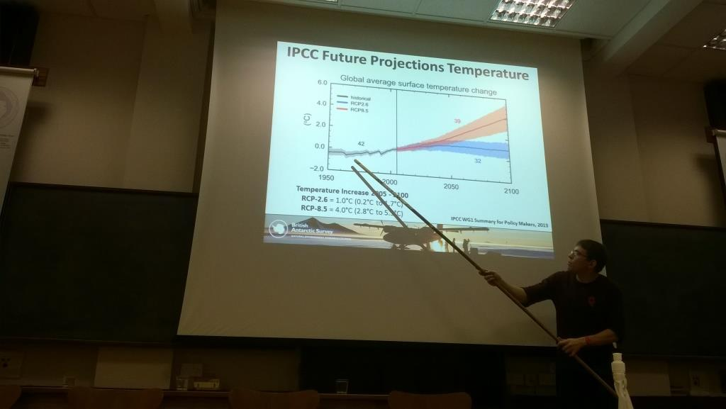 James Pope talks about the global temperature predictions