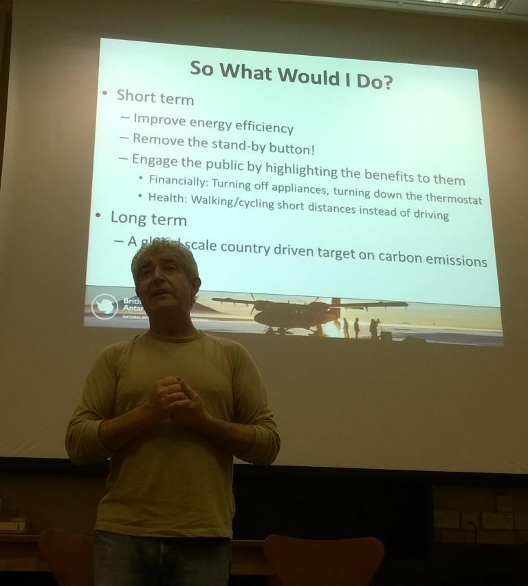 Tony Juniper delivering the talk